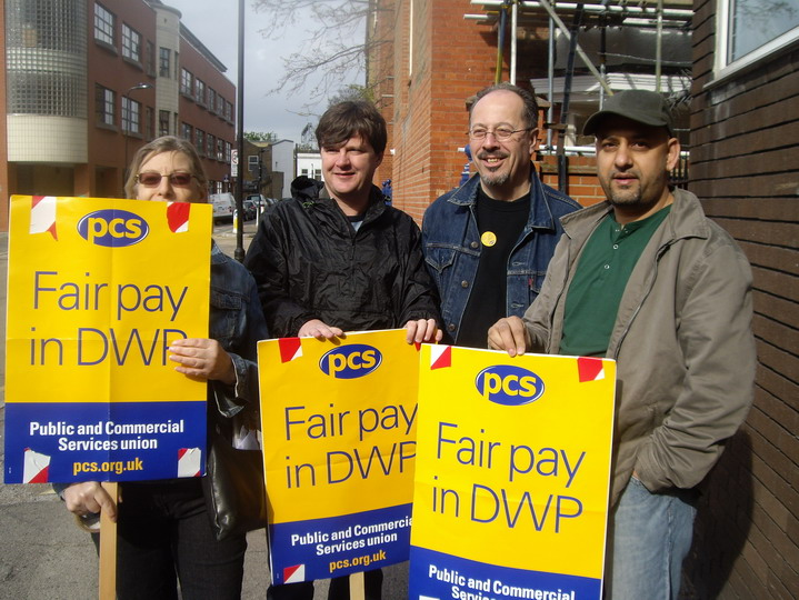 PCS picket line